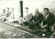 مشايخ بني طرف وفي الصورة:عباس السدخان و فيصل السدحان وشخص لا اعرفه وعلي بن احيال و ناجي المزعل