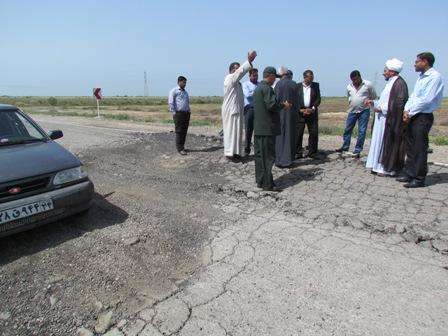 الطريق الذي يربط الخفاجية-البسيتين-بمحافظة ميسان العراقية