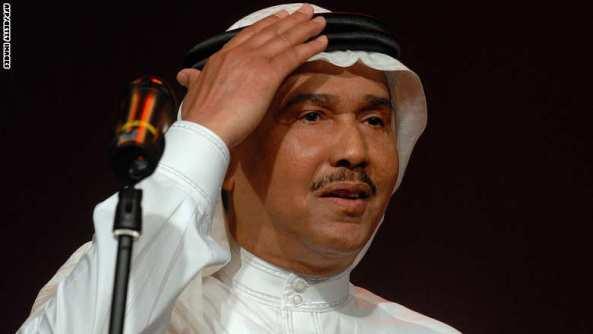 Saudi Arabian singer Mohammad Abdo salut